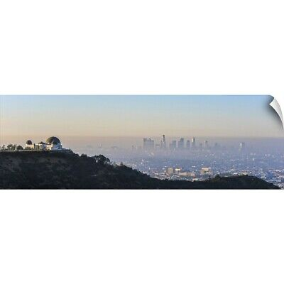 """Los Angeles, California Skyline with the Griffith Observatory - Panoramic"" W"