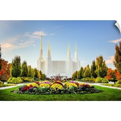 """""""Washington DC Temple with Flowers, South Kensington, Maryland"""" Wall Decal"""