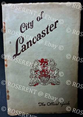1939 City of Lancaster  - Official Town Guide - Lancashire - Local Adds & Maps