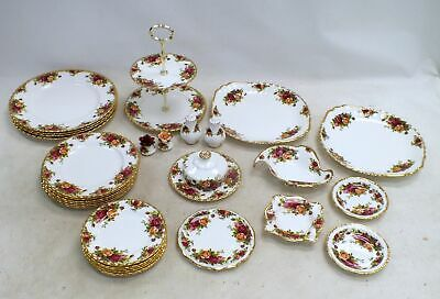 Collection Of 29 ROYAL ALBERT Bone China OLD COUNTRY ROSES Cake Stand  - C28