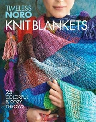 Knit Blankets: 25 Colorful & Cozy Throws Paperback Book Free Shipping!