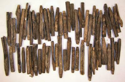 Antique Lge. Lot Wooden Primitive Maple Syrup Tree Taps Straight From Local Farm