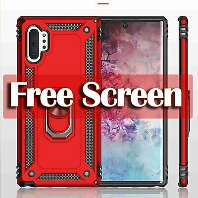 For Samsung Galaxy Note 10 10+ Plus Slim Shockproof Armor Case Cover + Screen