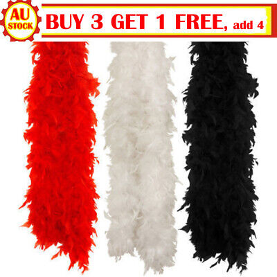 2M Feather Boa Strip Fluffy Craft Costume Dressup Wedding Party Flower Decors EA