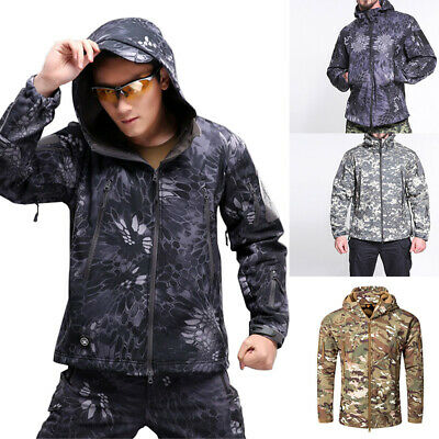 Men Waterproof Jackets Army Camouflage Jacket Military Tactical Soft Shell Coat