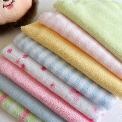 8Pack Baby Cotton Square Muslin Burp Mini Cloth Bib Comforter Nappy Wipe UK -MA2