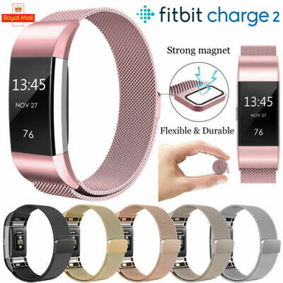 For Fitbit Charge 2 Watch Strap Wrist Band Milanese Stainless Steel Classic colo