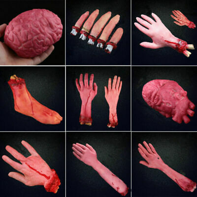 Horror Fake Bloody Body Halloween Props Scary Severed Latex Body Parts Decor