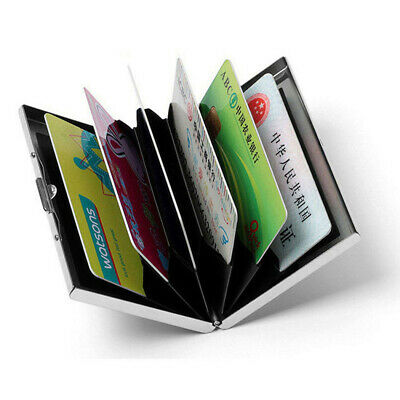 New Deluxe Wallet ID Credit Card Holder Anti RFID Blocking Stainless Steel Case