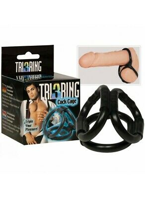 Triple Cockring Cage
