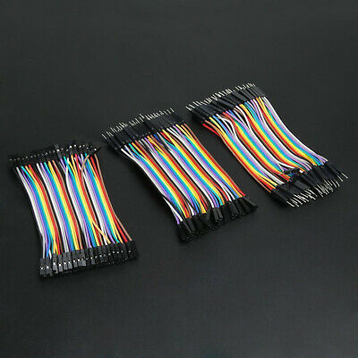 120x Male To Female Dupont Wire Jumper Cable Fit For Arduino Breadboard 11cm