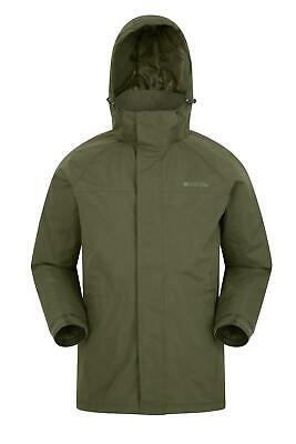 Mountain Warehouse Mens Jacket Water-Resistant Fabric and Longer Length