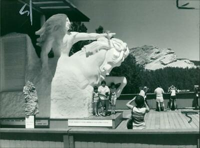 The Sioux Indian Chief at the back on of Mount Rushmore National Memorial - Vint