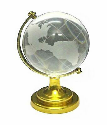 Crystal Globe Earth World Map Wedding Party Favours Table Decor Spins on Axis