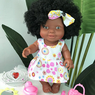 10inch Baby Movable Joint African Black Doll Kids Child Cute Toy Christmas Doll