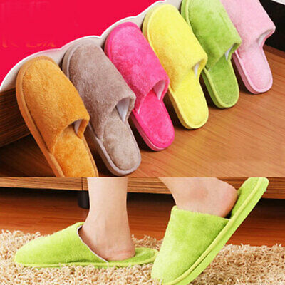 Women Men Cotton Plush Warm Slippers Home Indoor Slippers Shoes Mutli size 2019