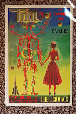 Tool Concert tour poster 1994 Failure The Flaming Lips Austin