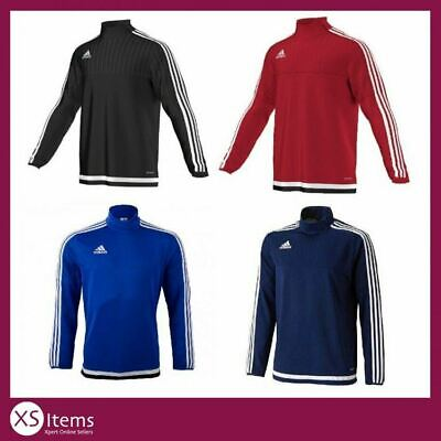 Adidas Tiro 15 1/4 Zip Mens Football Training Top Black/Blue/Navy/Red S/M/L/XL