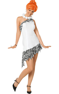 LADIES PEBBLES FLINTSTONE FLINSTONES TV SHOW CARTOON FANCY DRESS COSTUME OUTFIT
