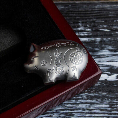 Jolly Silver Pig Lunar Year Collection Antique finish Silver Coin Mongolia 2019