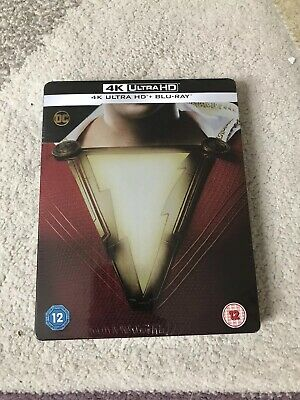 Shazam - Uk Limited Edition Steelbook Blu-Ray & 4K Ultra Hd Movie! (Dc Comics)