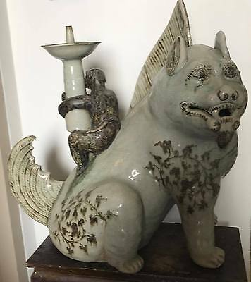 Antique  Lanna Thai Monkey & Kirin  Sawankhalok  Tukata Sia Kaban  Figure