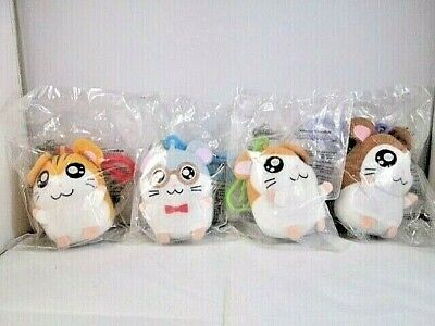!HTF! 2004 McDonald's HAMTARO KEYCHAIN Plush Toys COMPLETE SET ~SOUTH AMERICA~