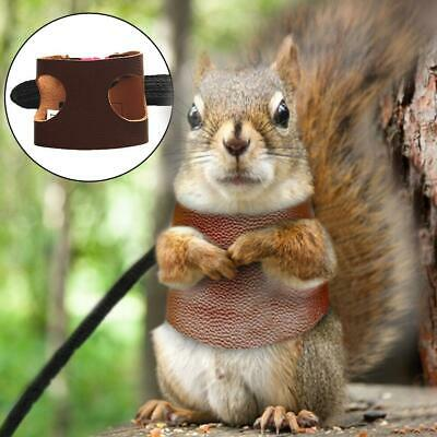 Split Vest Type Squirrel Training Rope Small Pet Traction Rope Hamster Leather C