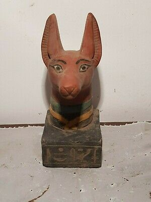 Rare Antique Ancient Egyptian God Anubis Jackal Under world Dead mumy1860-1780BC