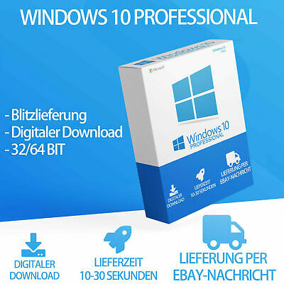 Microsoft Windows 10 PRO Key Professional 32/64 Bit Vollversion via eBaymessage