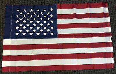 3x5 Embroidered USA United States American Flag with Pole Sleeve 210D Poly New