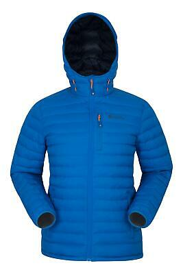 Mountain Warehouse Mens Down Padded Jacket Water Resistant Winter Coat