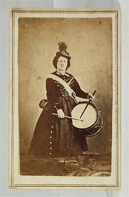 c1864 CIVIL WAR CDV PHOTO OF FEMALE SOLDIER MARY BROWN VIVANDIER 31st MAINE REGT