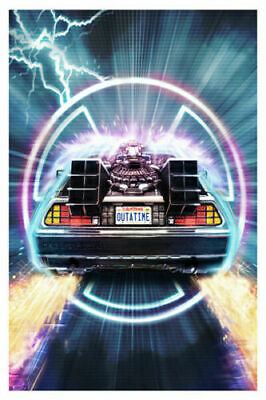 W125 Back To The Future Poster Classic Movie Series fabric decor picture 24x36