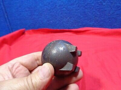 Antique Cast Iron Advertising Paperweight  Strieby & Foote Co Forged Steel Balls