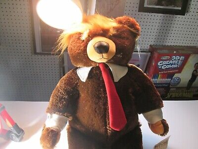 Donald Trump Trumpy Bear Deluxe Plush American Flag Cape