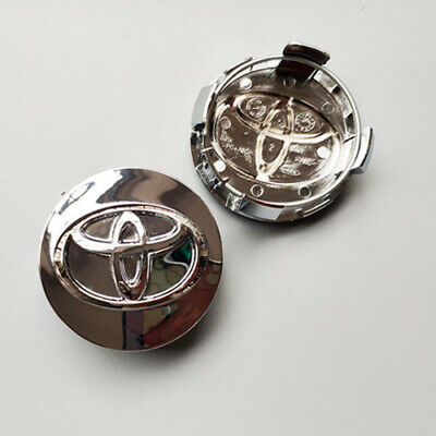 """4X2.45"""" 62mm Wheel Rim Hub Center Caps Silver Glossy Cover Fit for Corolla Camry"""