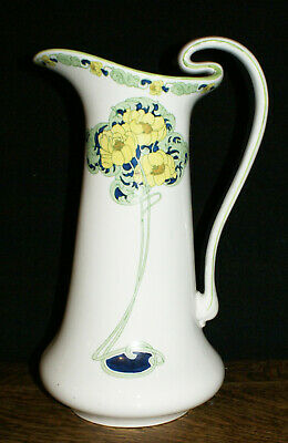 "1903 Bishop & Stonier BISTO Art Nouveau 14"" Tall Pitcher with Arts & Crafts Vibe"