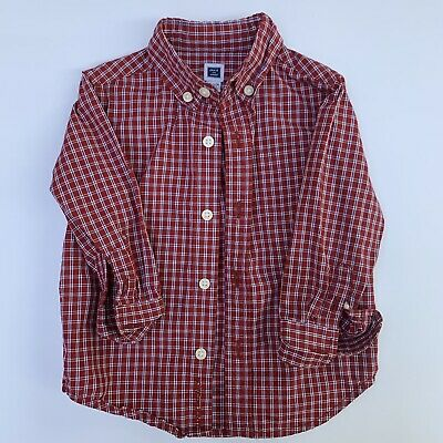 Baby Boy 12 - 18 Months Janie And Jack Red Plaid Check Button Up Shirt