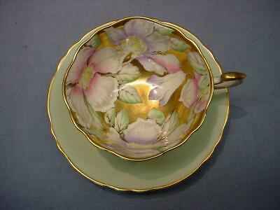 Paragon Large Flowers Teacup & Saucer