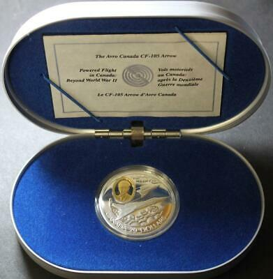 Canada $20 Dollar Silver Avro Arrow CF-105 Coin In Case Of Issue, COA Included