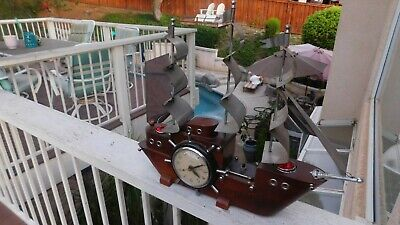 Vintage 1950's Master Crafters #740 Yankee Clipper Ship Working Electric Clock