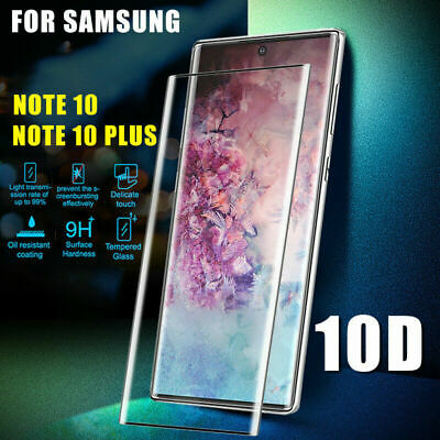 For Samsung Galaxy Note 10 Plus 3D Curved Tempered Glass Screen Protector Film J