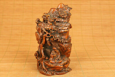 chinese old boxwood hand carved boxwood hand carved tree buddha statue