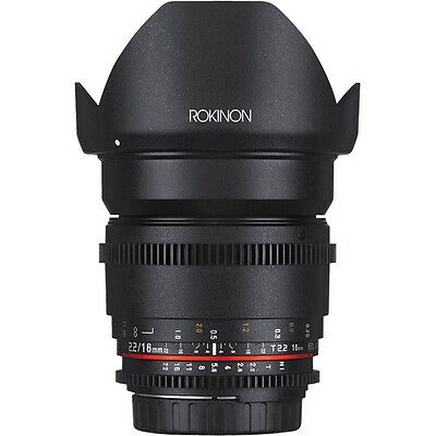 Rokinon Cine DS 16mm T2.2 Ultra Wide Angle Cine Lens for Nikon DX - DS16M-N