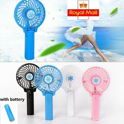 Mini Portable Pocket Fan Cool Air Hand Held Cooler Usb Rechargeable Electric Uk