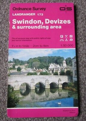 Swindon , Devizes  -  Ordnance Survey Landranger Map ,  Sheet 173