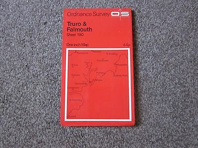 Truro & Falmouth  .  Ordnance Survey One-Inch  Map  .  Sheet 190  , 1972