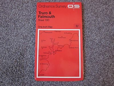 Truro & Falmouth  .  Ordnance Survey One-Inch  Map  .  Sheet 190  , 1966