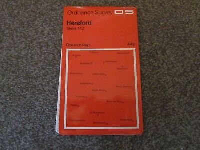 Hereford  -  Ordnance Survey One-Inch Map  .  Sheet 142  , 1971 ""